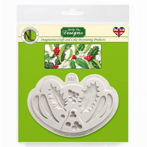 Katy Sue Mould - Silikonform Holly & Mistletoe