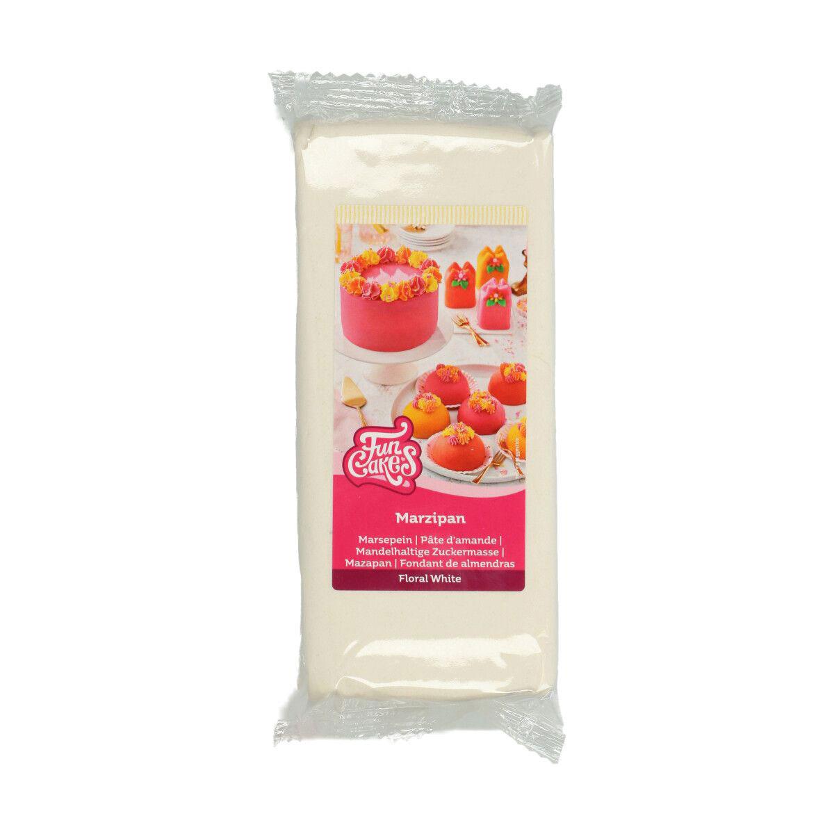 Funcakes mandelhaltige Zuckermasse - Marzipan Weiss 1 Kg