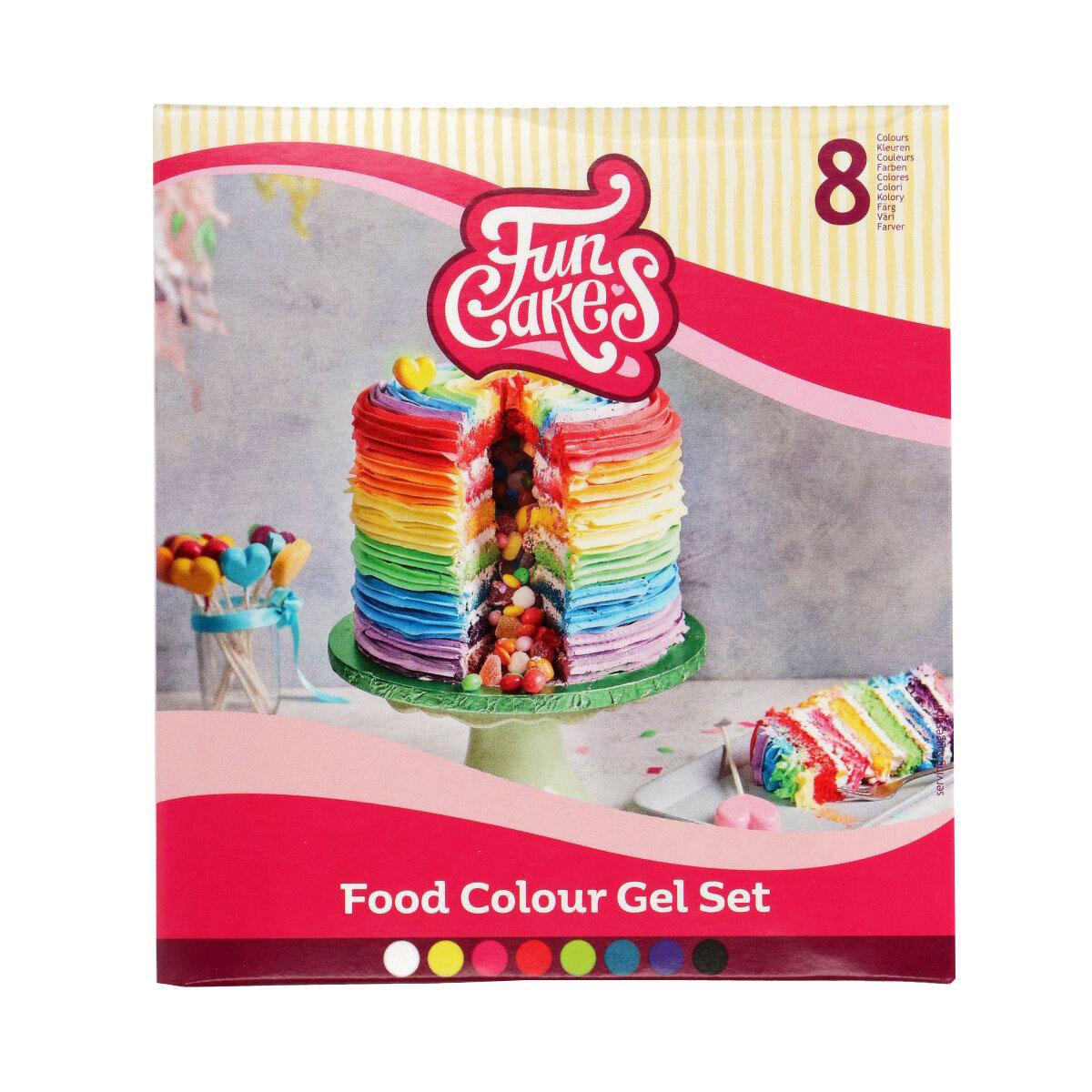 Funcakes Edible Funcolours Gel Set/8