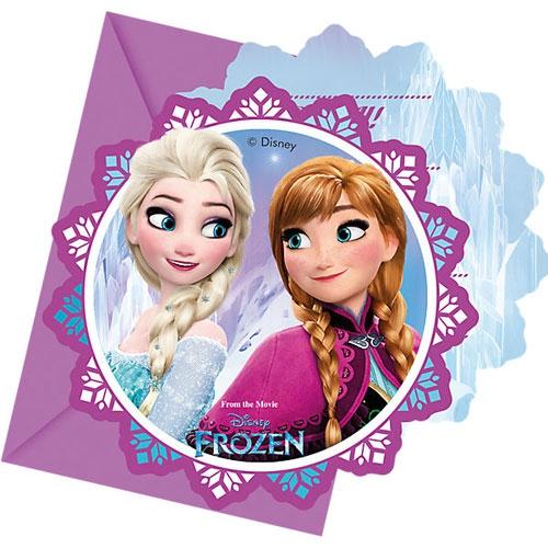 Einladungskarten mit Umschlag - Frozen Nothern Lights