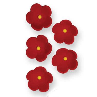 MHD 25/6/21 PME Zuckerdeko Medium Red Blossom 30Stück