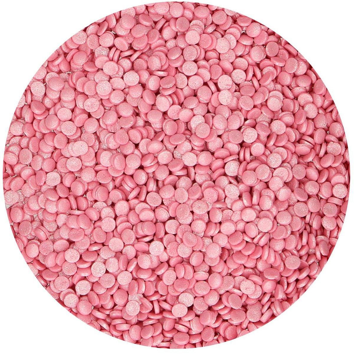 FunCakes Konfetti Metallic Rosa 70g