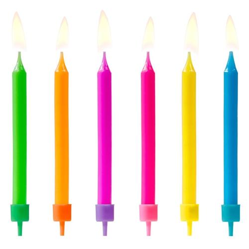 PartyDeco Kerzen Farb-mix 6 Stück