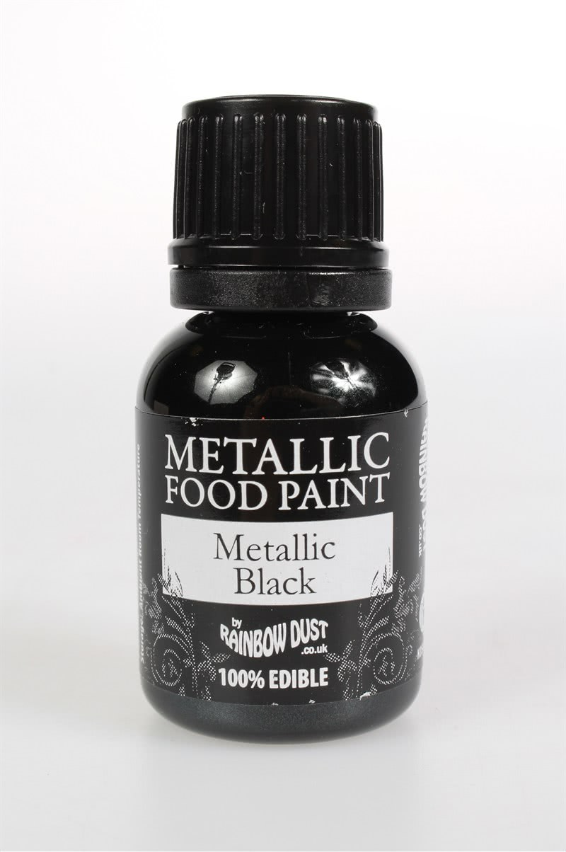 RD Food Paints – Metallic Black