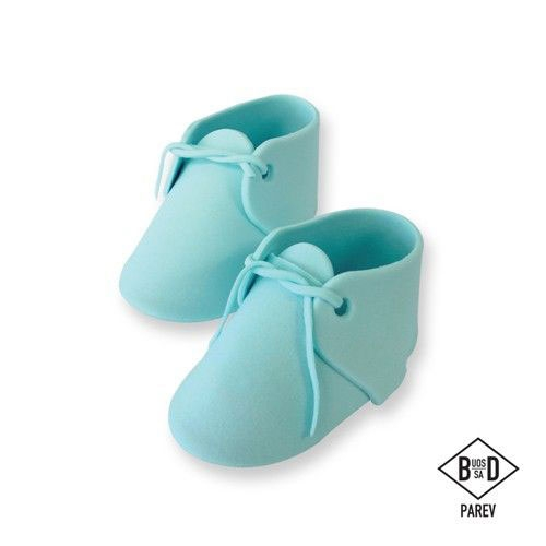PME edible Cake Topper Large Baby Bootee - Blue