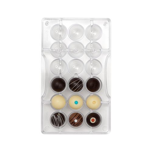 Decora Profi- Schokoladenform Halbkugeln mit Loch