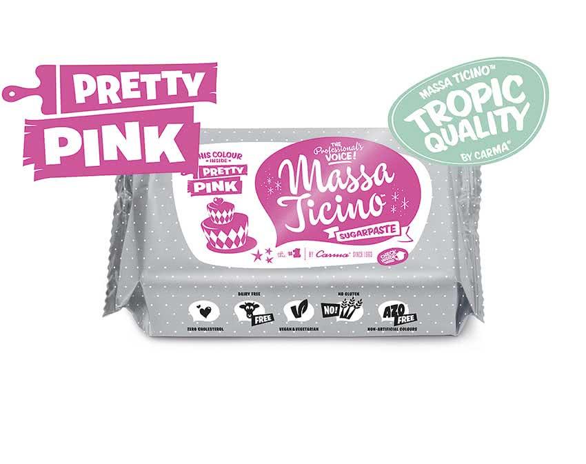 Massa Ticino Tropic – Rollfondant Pretty Pink 250g