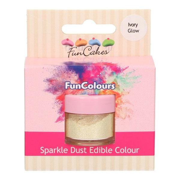 Funcakes Edible Sparkle Dust - Ivory Glow