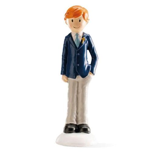 Dekorative Tortenfigur - Kommunion Junge mit Krawatte