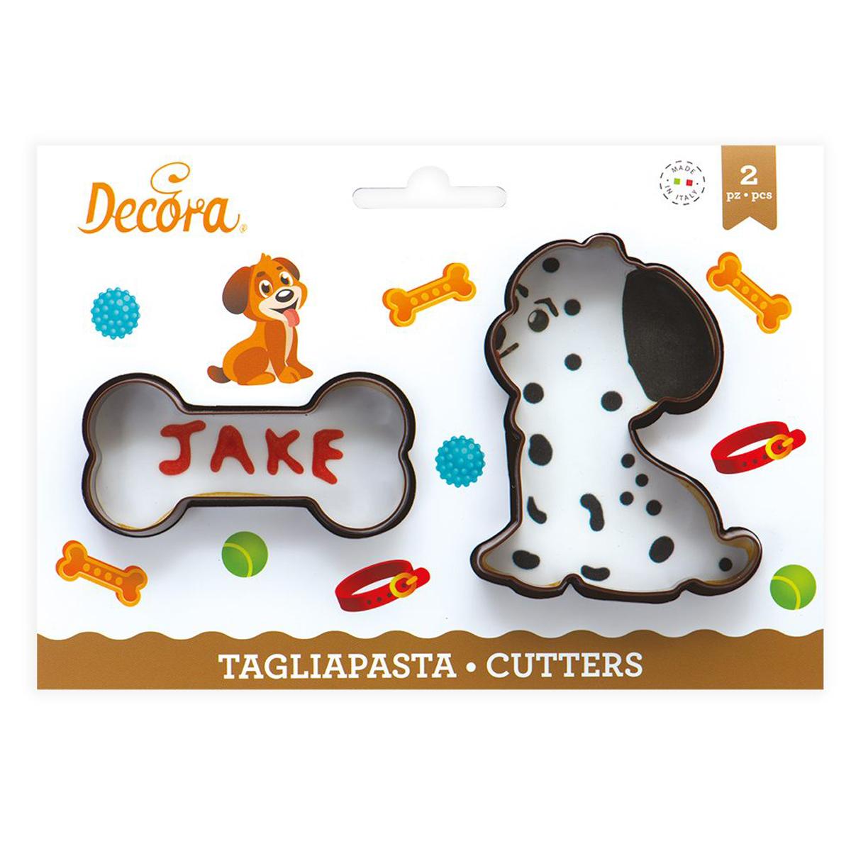 Decora Kunststoff Ausstecher Paw - Hund & Knochen