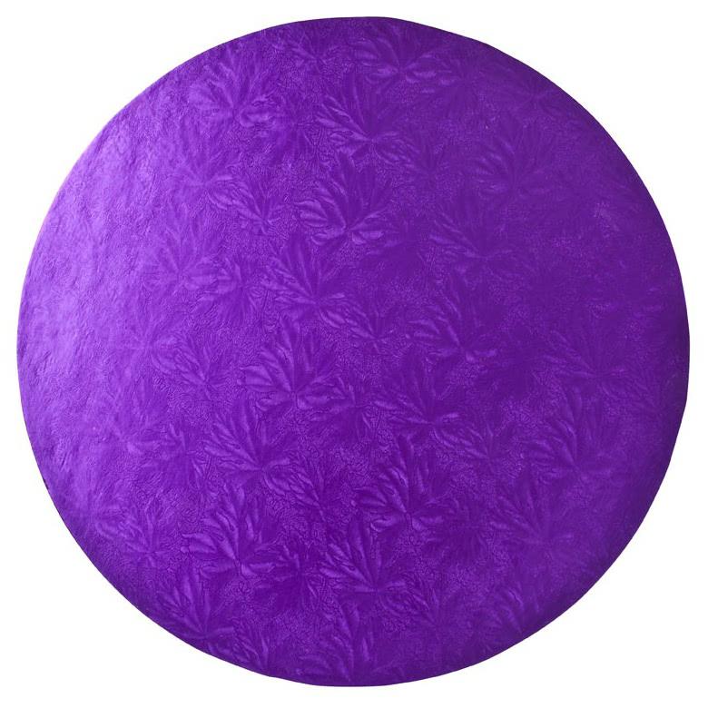 "Cake Board 12"" 30cm Rund Purple"