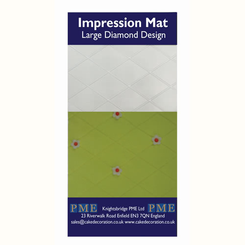 PME Prägematte Large Diamond Design - große Raute