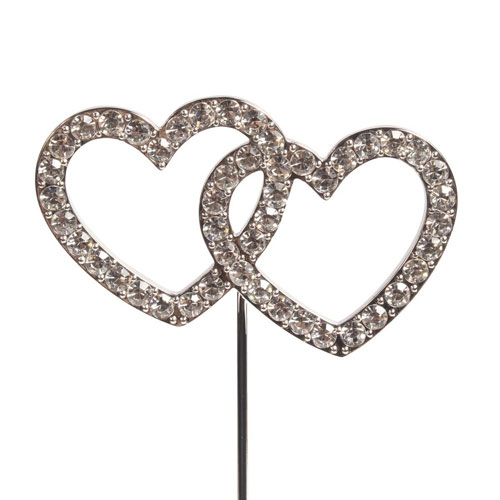 Cake Star Diamant Cake Topper - Double Heart