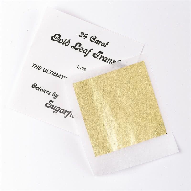 1 Blatt Blattgold Transfer 8 x 8cm 24 Karat