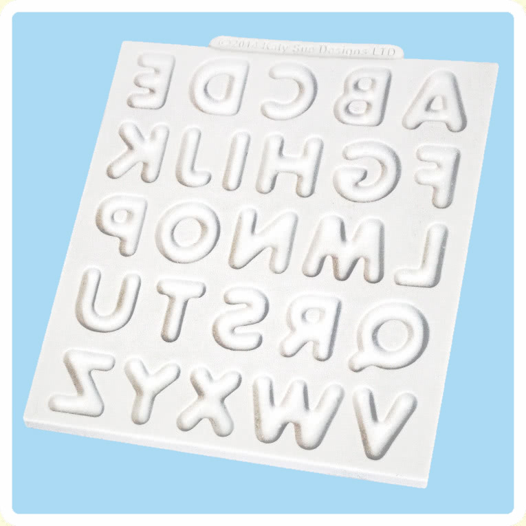 Katy Sue Silikonform - Alphabet abgerundet
