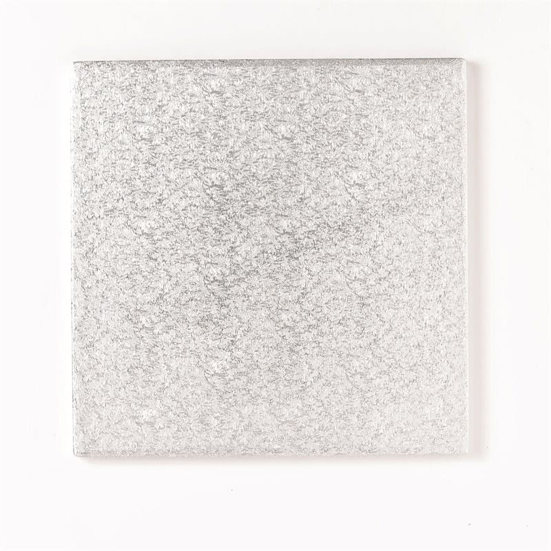 """Cake Board 10"""" 25cm Quadrat Silber- 1cm dick"""