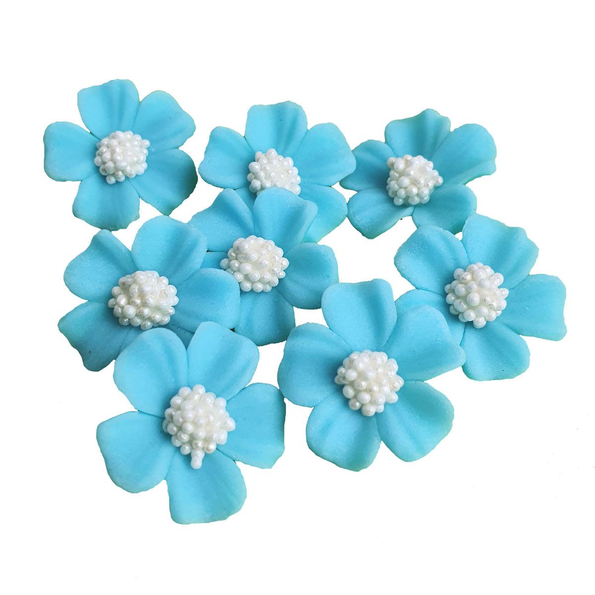 Zuckerblumen Vergissmeinnicht 8 Stück - Blau