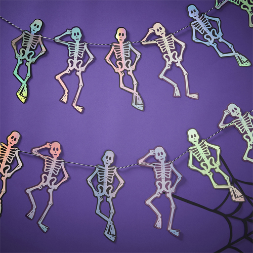 Ginger Ray Halloween-Girlande - Skelett