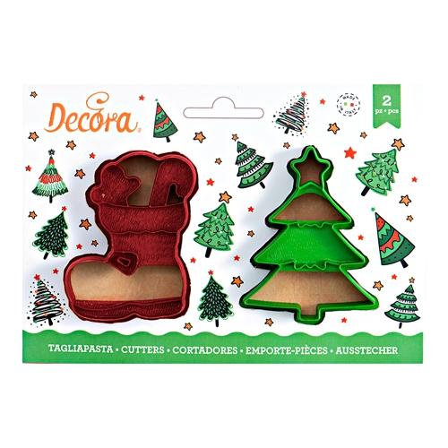 Decora Ausstecher Set Weihnachten Tanne und Stiefel