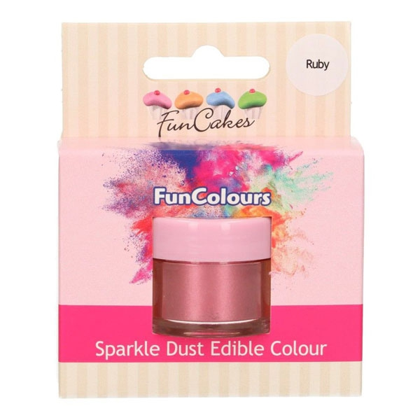 Funcakes Edible Sparkle Dust - Ruby
