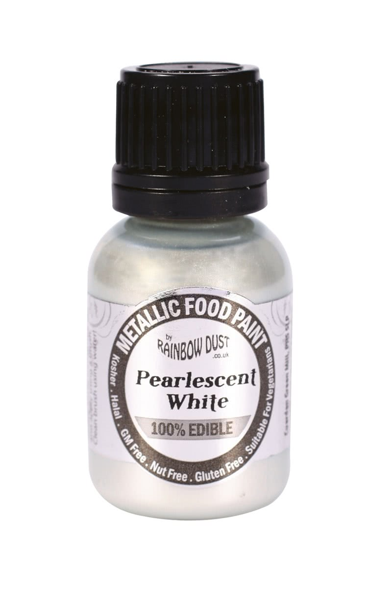RD Edible Food Paints – Pearlescent White
