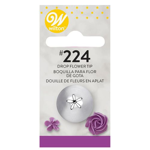 Wilton Decorating Tip #224 Dropflower Carded - Blütentülle
