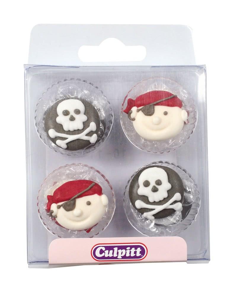 Culpitt Zuckerdeko Piraten und Totenkopf 12 Stück