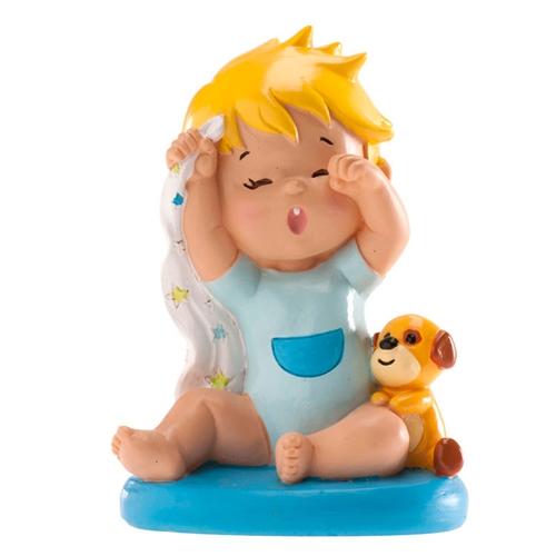 Dekorative Tortenfigur Baby mit Schmusetuch - Junge