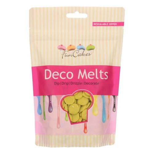 Funcakes Deko Melts - Limettengrün 250g