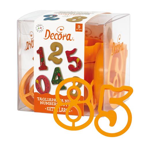 Decora Ausstecher Zahlen - extra Large 9tlg