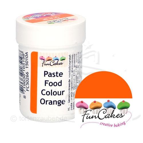 Funcakes Funcolours Pastenfarbe - Orange 30g
