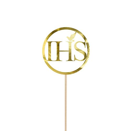 Cake Topper Kommunion - IHS Gold