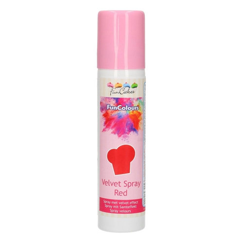 Funcakes Velvet Spray - Samtspray - Rot 100ml