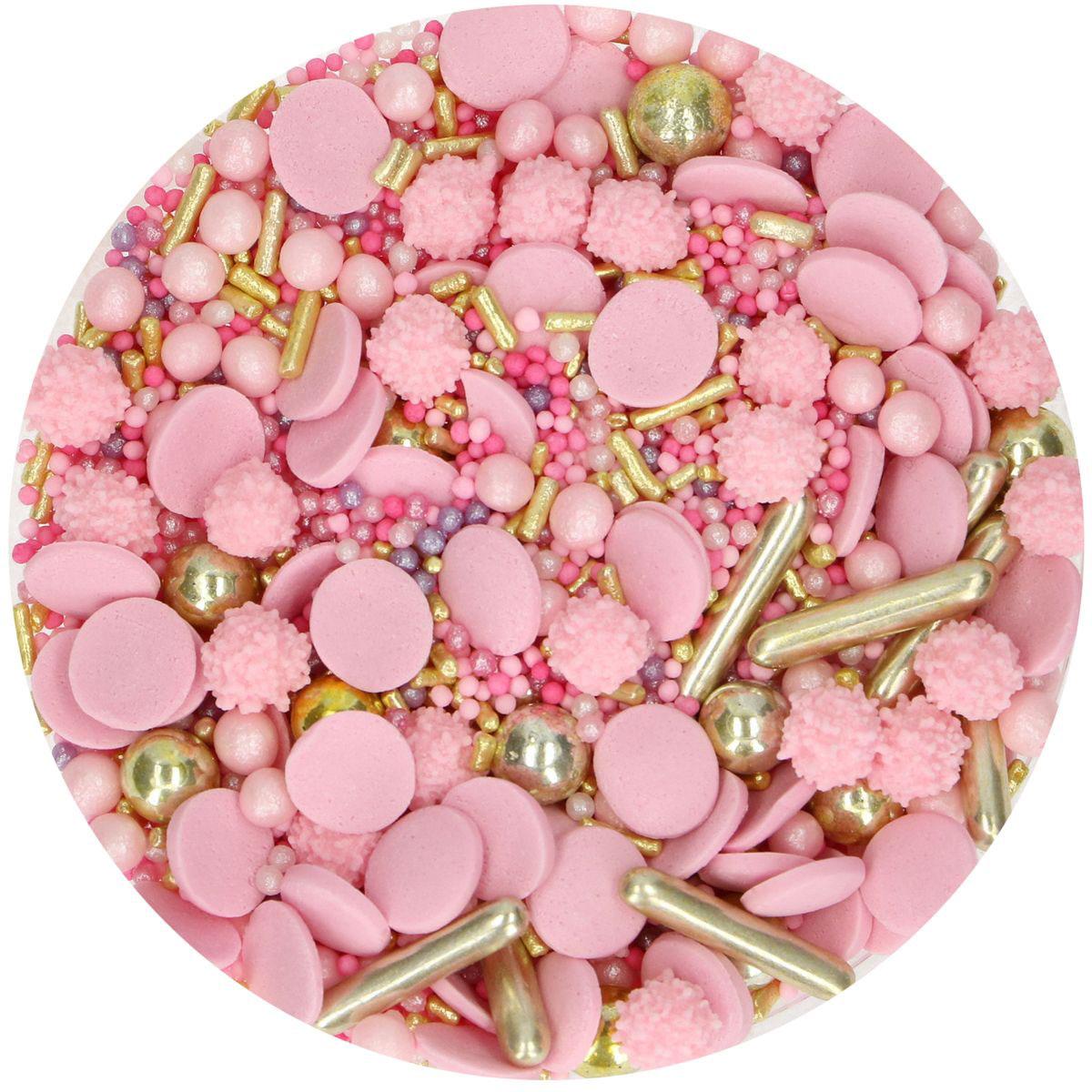 Funcakes Sprinkles Medley - Glamour Pink 65g