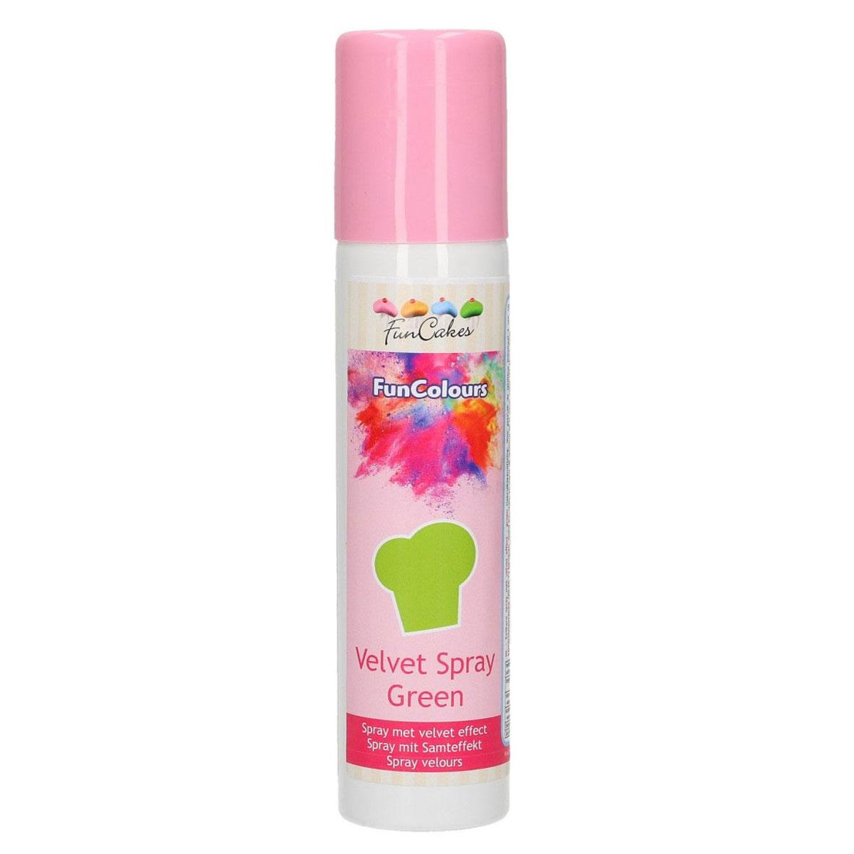 Funcakes Velvet Spray - Samtspray - Green 100ml