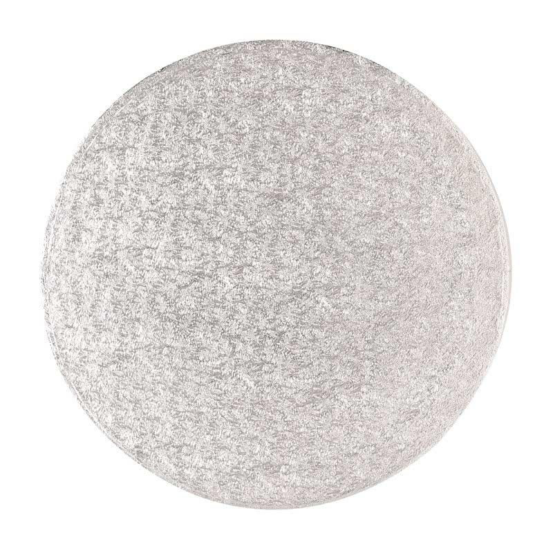 "Hardboard 4"" 10,0cm Rund Silber- 3mm dick"