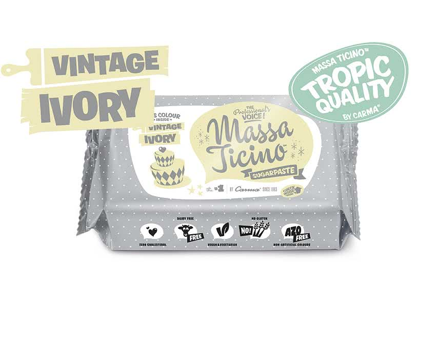 Massa Ticino Tropic – Rollfondant Vintage Ivory 250g