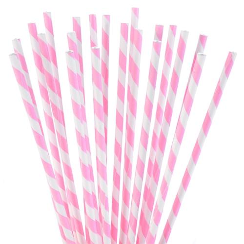 Modecor Cake Pop Sticks - Rosa-weiß gestreift