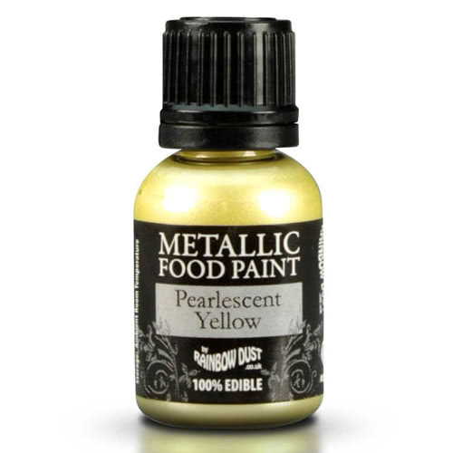 RD Edible Food Paints – Pearlescent Yellow