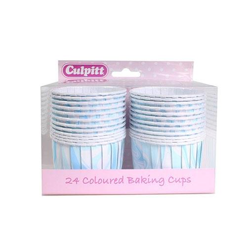 Culpitt Baking Cups - Marmoriert Blau 24 Stk