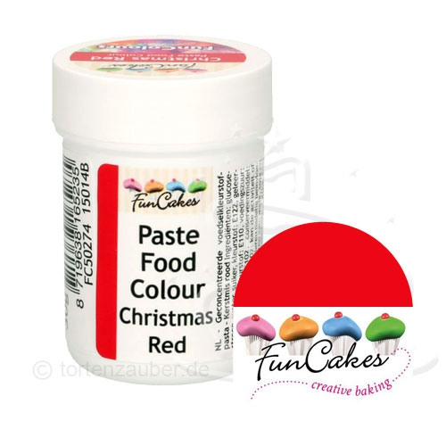 Funcakes Funcolours Pastenfarbe - Christmas Red 30g