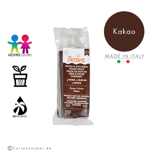 Decora Pasta di Zucchero - Fondant Kakao 100g