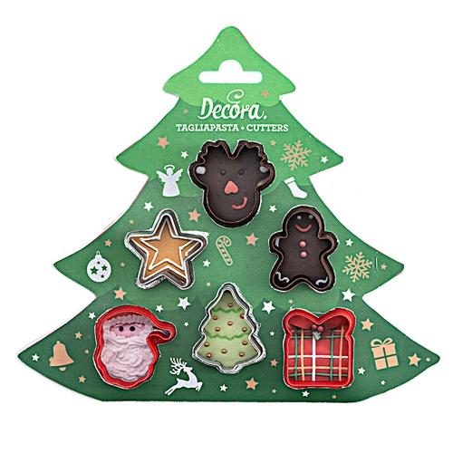 Decora Ausstecher Set Weihnachtsschmuck Mini 6teilig