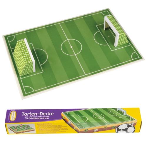 Tortendecke Fußballfeld mit 2 Toren