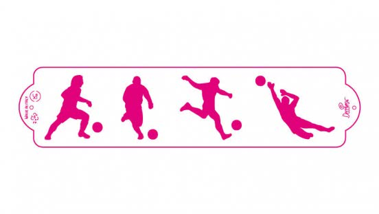 Decora Schablone World Cup 7 x 30cm
