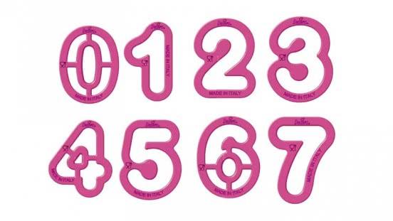 Decora Ausstecher Zahlen 9 Teilig