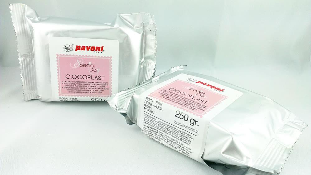 Modellierschokolade 250g pink