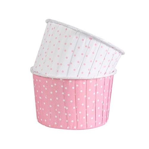 Culpitt Baking Cups - Rosa / Weiss gepunktet 24 Stk