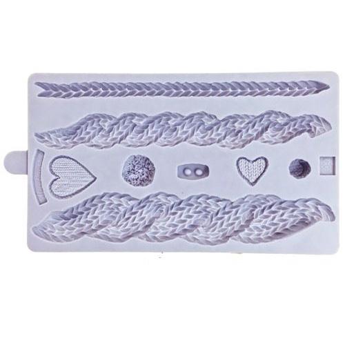 Karen Davies Silikonform - Cable Knit - Strickzöpfe