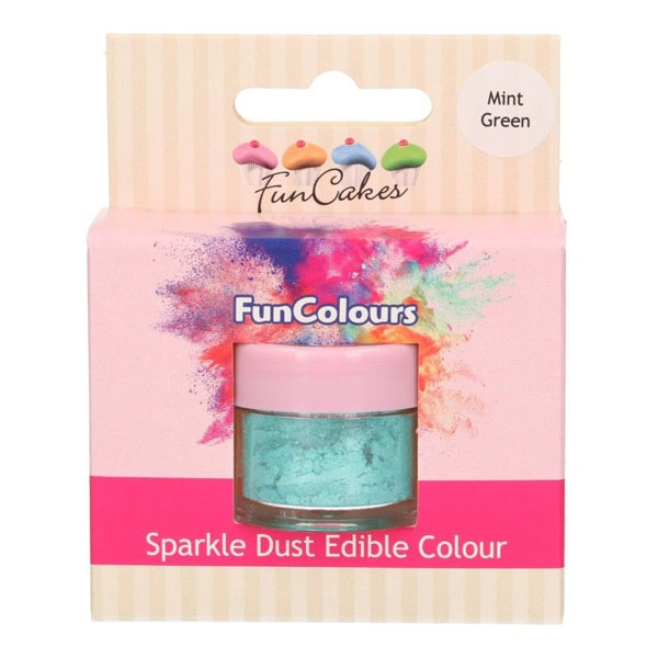 Funcakes Edible Sparkle Dust - Mint Green